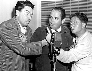 Tommy Riggs and Betty Lou - Tommy Riggs (center) with Hank Ladd (left) and Bert Wheeler as they joined the show's cast in 1941.