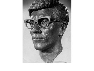 Hank Marvin - Hank Marvin sculpted by Victor Heyfron M.A. 1964