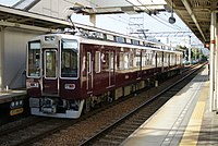 Hankyu 8000 series 2-car set 2010-10-05.jpg
