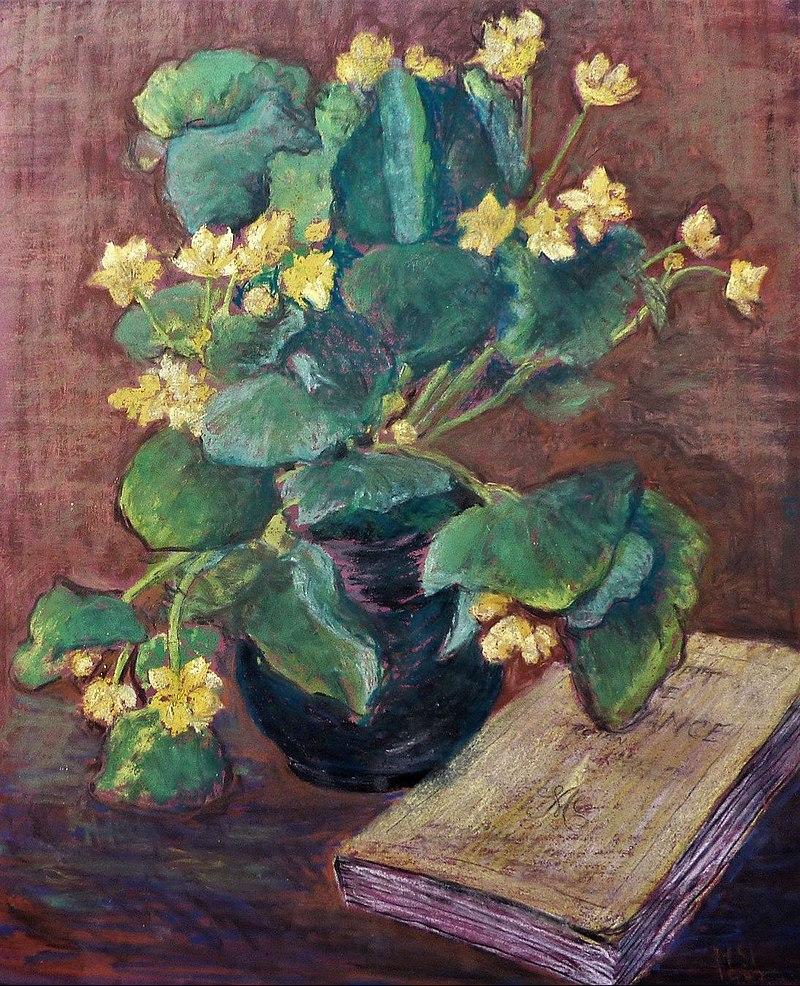 Hans Sturzenegger - Stilleben mit Blumen und Buch, c. 1920.jpg