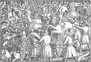 Battle of Stamford Bridge - A 19th century illustration for Harald Hardrada saga, Heimskringla