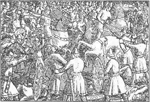 Battle of Stamford Bridge - A 19th century illustration for Harald Hardrada saga, Heimskringla