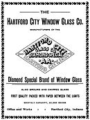 advertisement from the 1890s with diamond-shaped logo