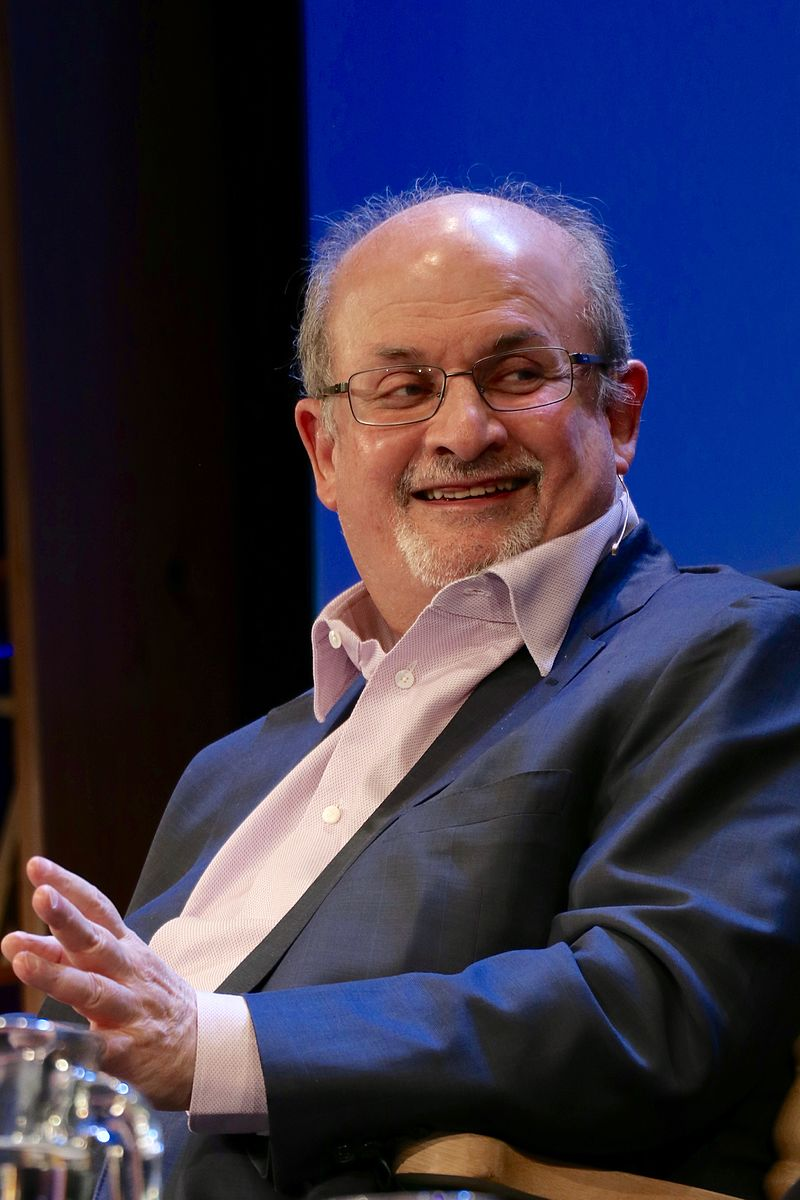Rushdie at the 2016 Hay Festival