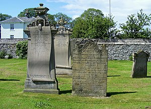 English: Headstones at The Old Cemetery