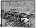 Headworks and segment of flume northeast of diversion dam. - Rock Creek Hydroelectric Project, Rock Creek, Baker County, OR HAER OR-121-3.tif