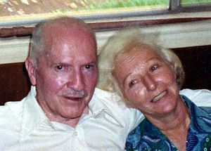 Robert A. Heinlein - Robert and Virginia Heinlein in Tahiti, 1980.