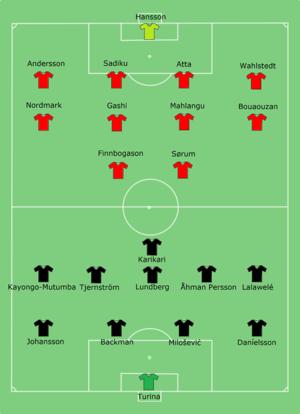 2012 Svenska Supercupen - Image: Helsinborg vs AIK 2012 03 24