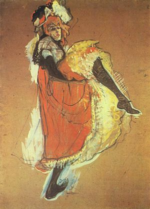Can-can - Toulouse-Lautrec, Jane Avril Dancing