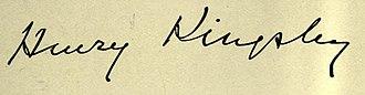 Henry Kingsley - Image: Henry Kingsley Signature