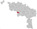 Hensies Hainaut Belgium Map.png