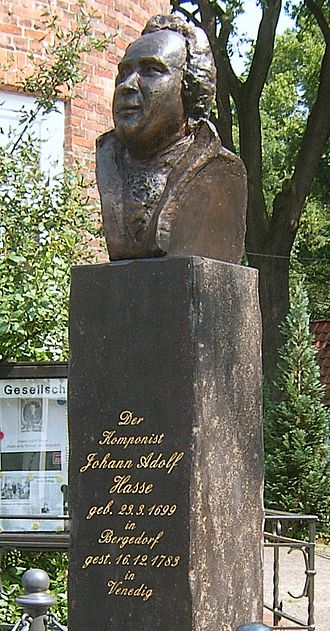Johann Adolph Hasse - Memorial to Johann Adolph Hasse in front of his birth house in Hamburg-Bergedorf