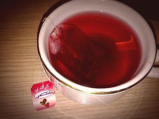 Hibiscus tea drink made from sepals of Hibiscus sabdariffa