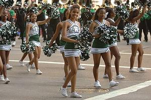 Hightower High School - HHS cheerleaders in parade (2012)