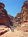 Hikers on the trail to Ad-Deir, Petra.jpg