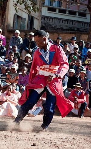 Hira gasy dancer Madagascar
