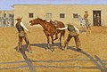 His First Lesson, 1903, Frederic S. Remington.jpg