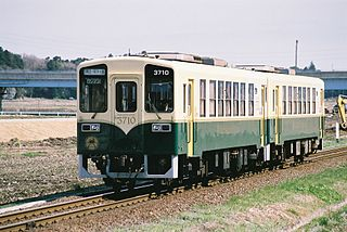 Minato Line Railway line in Hitachinaka, Ibaraki prefecture, Japan.