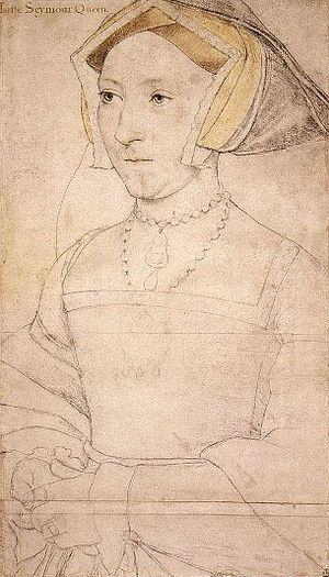 Artists of the Tudor court - Drawing of Jane Seymour by Holbein, 1536–37
