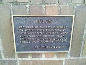 Holon (sculpture) - Plaque for the sculpture