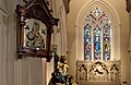 Holy Trinity RC Church Brook Green Interior Stained Glass Alter.jpg