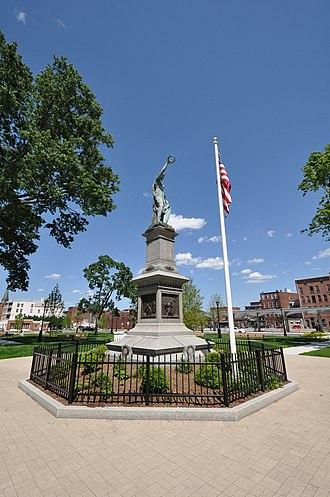 Henry Jackson Ellicott - Image: Holyoke MA Hampden Park Statue
