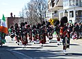 Holyoke Caledonian Pipe Band performing in the 2019 Holyoke Saint Patrick's Day Parade.jpg