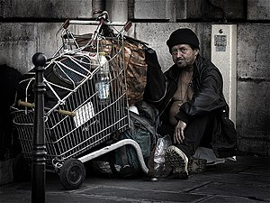 A homeless man