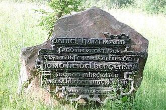 Mauer 1 - 70th anniversary memorial stone
