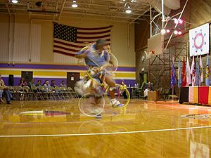 Lower Brule Indian Reservation - Hoop dance