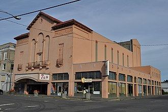 Hoquiam, Washington - The 7th Street Theatre, listed on the National Register of Historic Places.