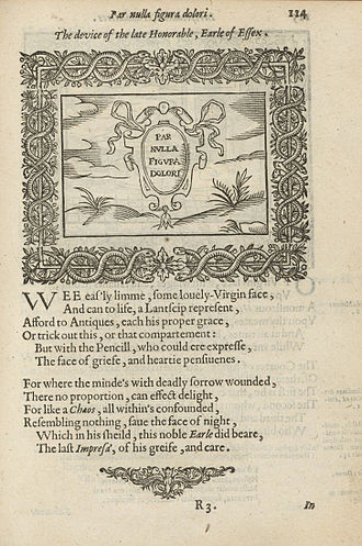 Henry Peacham (born 1578) - Page from Minerua Britanna or A garden of heroical deuises, 1612