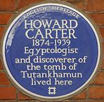 Howard Carter 19 Collingham Gardens blue plaque.jpg