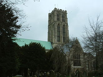 Howden - View of the south face of Howden Minster