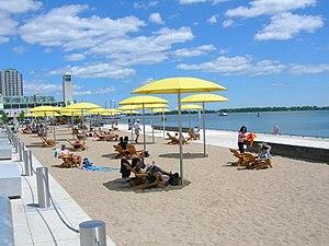 Urban beach - Urban beach at HtO Park in Toronto.