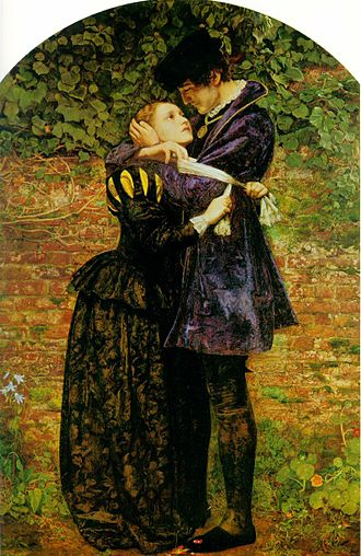 Huguenots - Millais' painting, Huguenot Lovers on St. Bartholomew's Day.