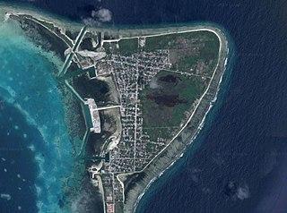 Hulhumeedhoo Island in Addu Atoll, Maldives