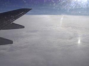 Hurricane Beta - Aerial view of Hurricane Beta from a plane over Panama