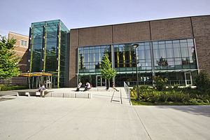 Husky Union Building - Southwest entrance to the Husky Union Building