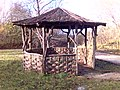 Hut on path at Crich Tramway Museum, Derbyshire - geograph.org.uk - 1651011.jpg