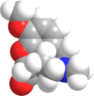 2D structure of syntethic opiate hydrocodene (...