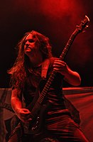 Hypocrisy, Mikael Hedlund at Party.San Metal Open Air 2013.jpg