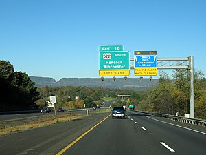 Interstate 70 in Maryland - Westbound I-70 in Hancock