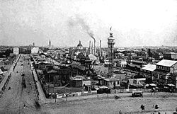 International Electrotechnical Exhibition of 1891 on the site of the former Western Railway Stations at Frankfurt am Main IEAFrankfurt1891a.jpg