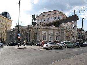 Deutsch: Albertinaplatz, Wien, Österreich Engl...