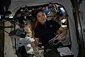 ISS-59 Christina Koch between the Quest airlock and the Unity module.jpg