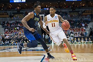 Monté Morris - Morris competing against Nevada in the NCAA Tournament