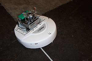 IRobot Create - iRobot Create with mounted camera and minicomputer