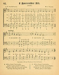 I Surrender All Christian hymn written by Judson W. Van DeVenter