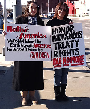 Idle No More - Indigenous protesters at an Idle No More event in Oklahoma City, Oklahoma